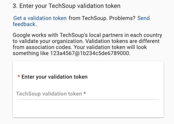 TechSoup Validation Token